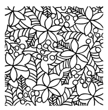 40014 Poinsettia & Holly Stencil