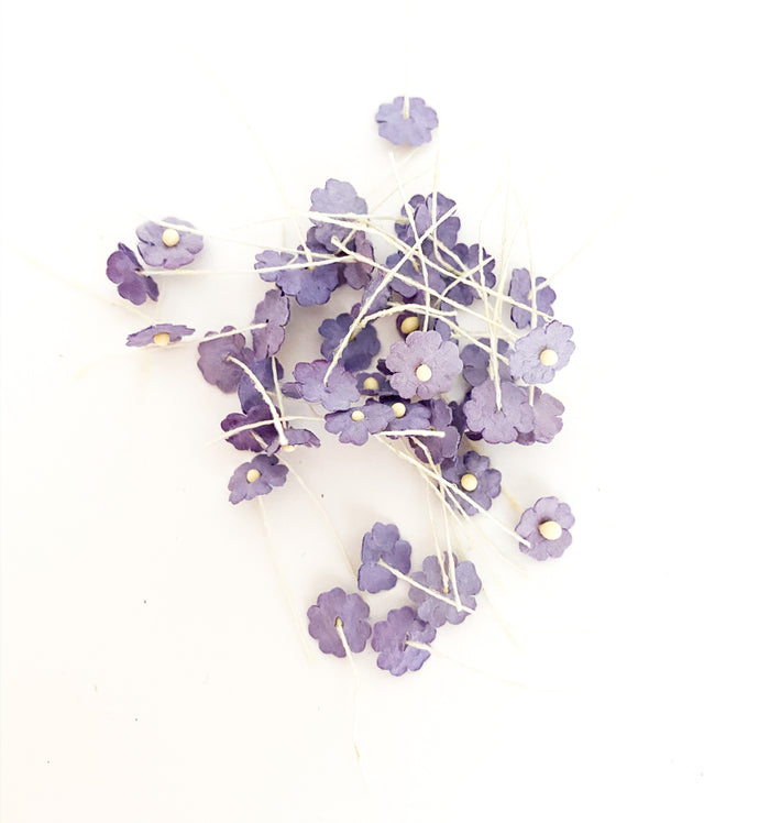Paper Flower Small Dark Lavender Flower