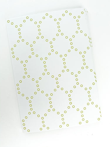 Patterned Note Card - Sage Hexagon
