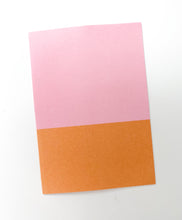 Patterned Note Card - Pink & Orange Two Tone