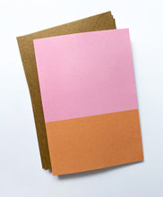Patterned Note Card - Pink & Orange Two Tone (with envelopes)