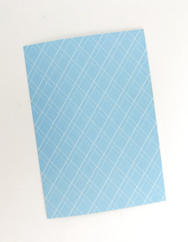 Patterned Note Card - Blue Diamond