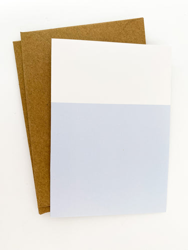 Patterned Note Card - Blue Two-Tone (with envelopes)
