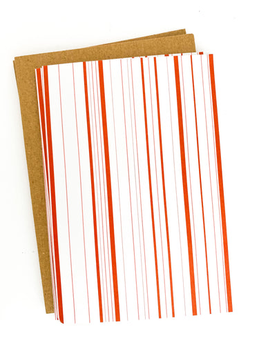 Patterned Note Card - Candy Cane Stripe (with envelopes)