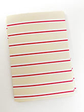 Patterned Note Card - Light Birch & Red Stripe