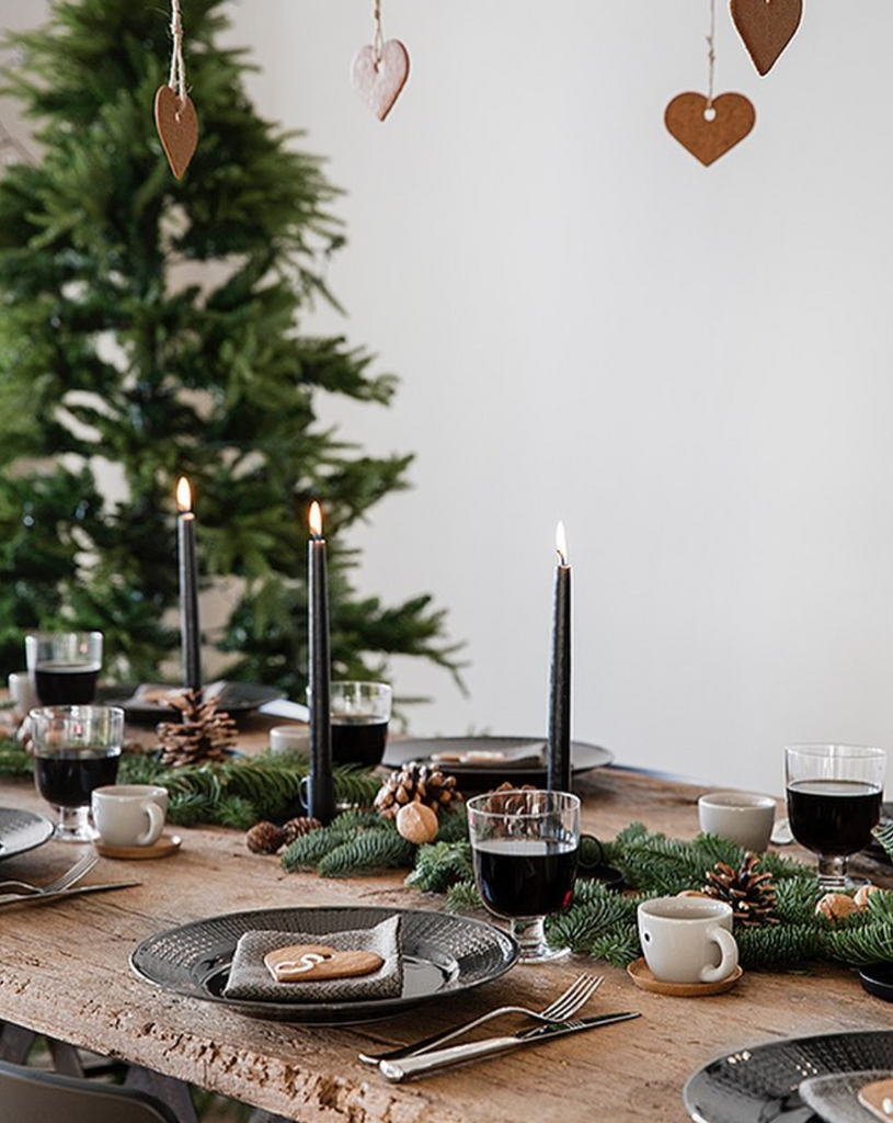 bougie tables de noël