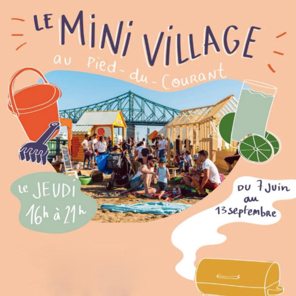 Mini village au pied-du-courant