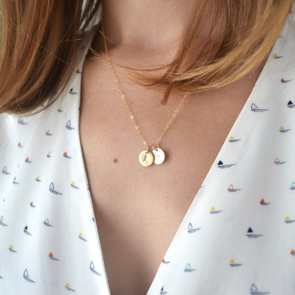 Collier Initiales duo Or - Sur commande