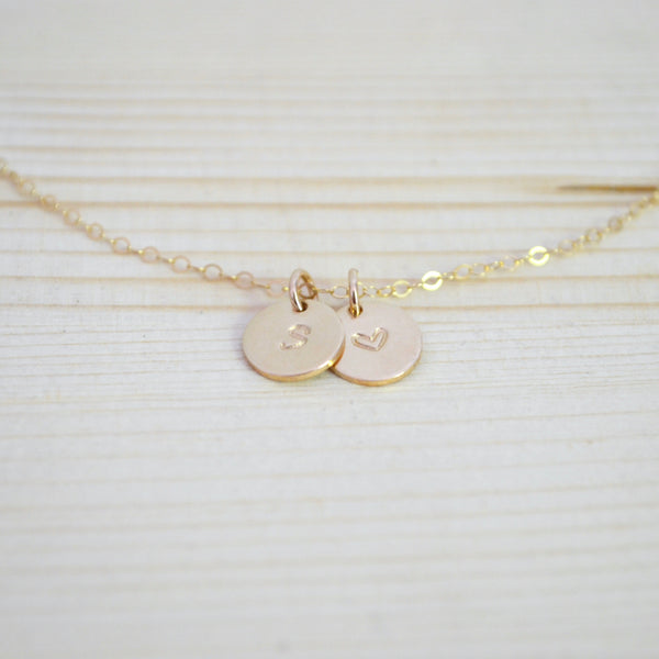 Collier Initiales duo