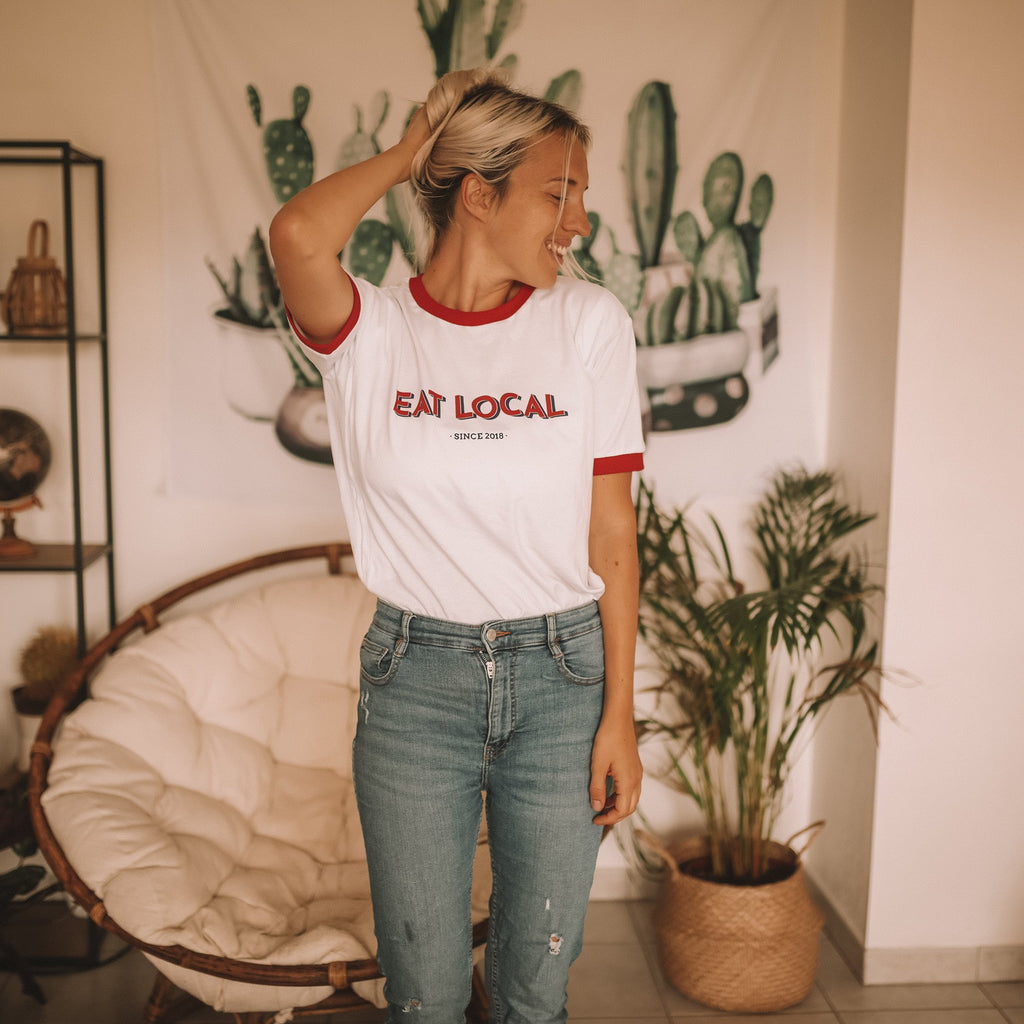T-shirt d'allaitement - Eat local.