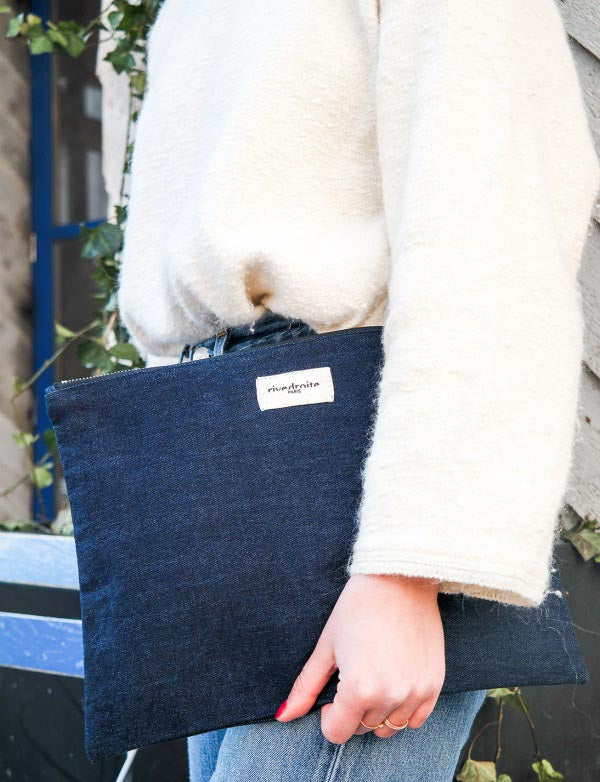 Trousse Barbette - Denim brut