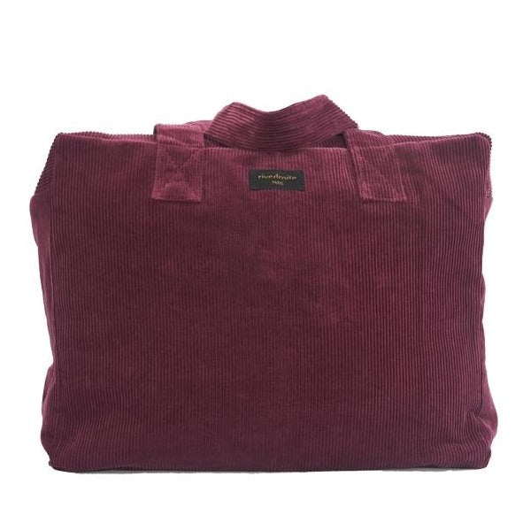 "Sac 24h Célestin - Collection velours - Bordeaux ""Scarlett Red"""