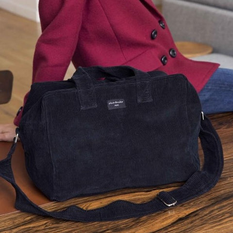 Sauval le city bag - Collection velours - Noir