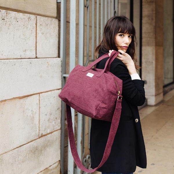 "Sauval le city bag - bordeaux ""Scarlett Red"""