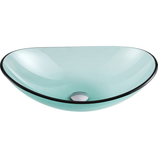 Major Series Deco-Glass Vessel Sink in Lustrous Green