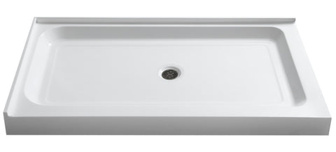 Vail 36 x 48  in. Double Threshold Shower Base in White