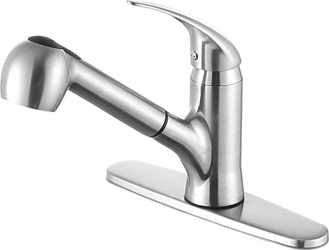 Del Acqua Single-Handle Pull-Out Sprayer Kitchen Faucet in Brushed Nickel