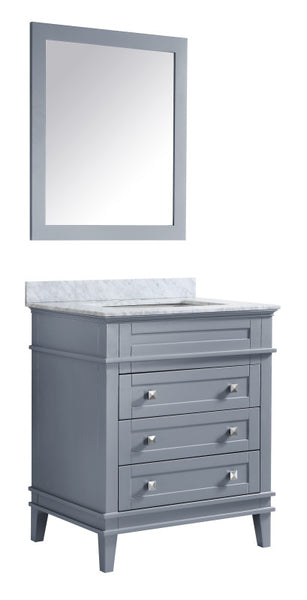 Wineck 36 in. W x 35 in. H Bathroom Bath Vanity Set in Rich Gray