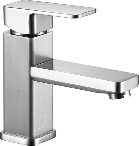 Naiadi Single Hole Single Handle Bathroom Faucet in Brushed Nickel