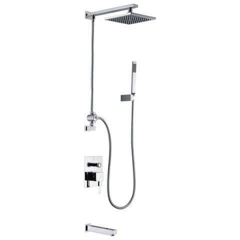 Byne 1-Handle 1-Spray Tub and Shower Faucet with Sprayer Wand in Polished Chrome