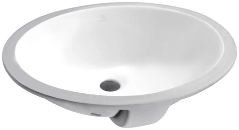 Lanmia Series 19.5 in. Ceramic Undermount Sink Basin in White