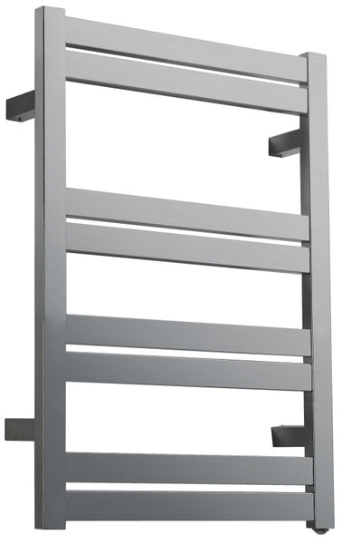 Tahitian Series 8-Bar Stainless Steel Wall Mounted Towel Warmer in Brushed Nickel