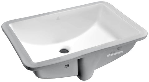 Pegasus Series 21 in. Ceramic Undermount Sink Basin in White