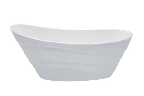 Stratus 5.6 ft. Acrylic Reversible Drain Freestanding Bathtub in Glossy White