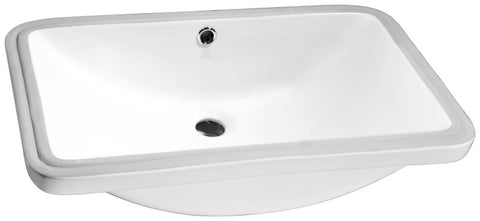 Lanmia Series 24 in. Ceramic Undermount Sink Basin in White