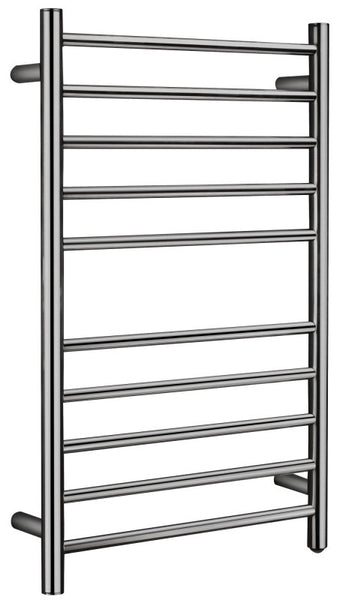 Bali Series 10-Bar Stainless Steel Wall Mounted Towel Warmer in Brushed Nickel