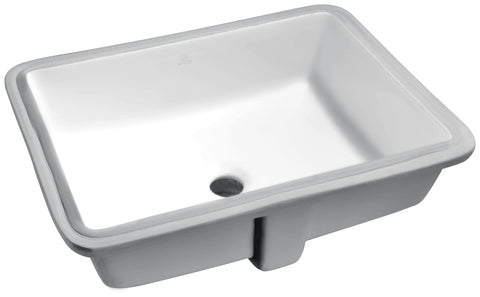 Dahlia Series 19.5 in. Ceramic Undermount Sink Basin in White