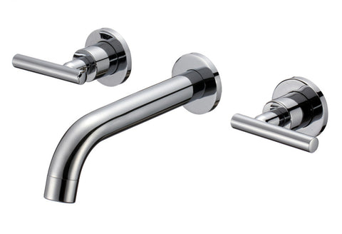 Protege 2-Handle Wall Mount Bathroom Faucet in Brushed Nickel
