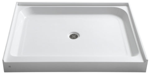Reach 36 x 48  in. Single Threshold Shower Base in White