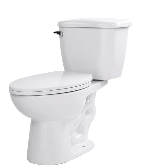 Kame 2-piece 1.28 GPF Single Flush Elongated Toilet in White