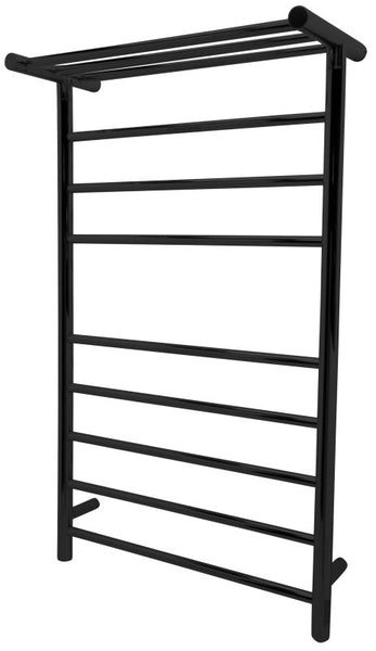 Eve 8-Bar Stainless Steel Wall Mounted Towel Warmer in Matte Black