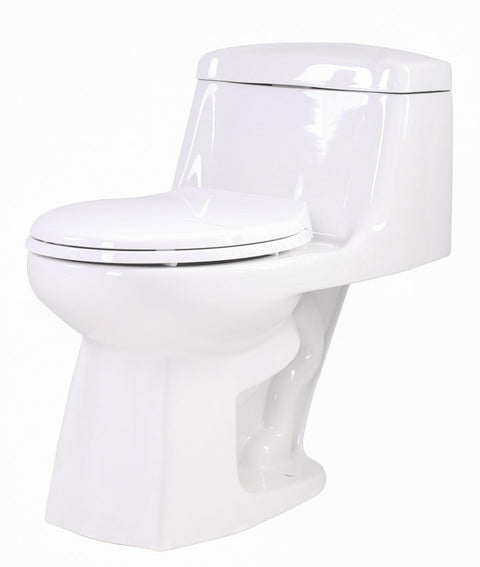 Templar 1-piece 1.28 GPF Single Flush Elongated Toilet in White