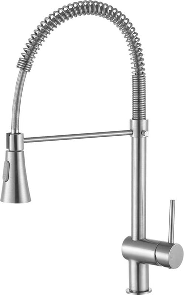 Carriage Single Handle Standard Kitchen Faucet in Brushed Nickel