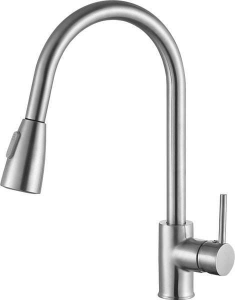 Sire Single-Handle Pull-Out Sprayer Kitchen Faucet in Brushed Nickel