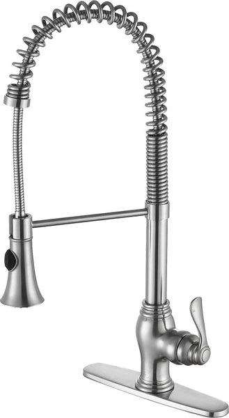 Bastion Single Handle Standard Kitchen Faucet in Brushed Nickel