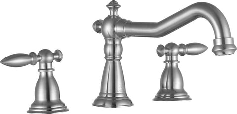 "Patriarch 8"" Widespread Bathroom Sink Faucet in Brushed Nickel"