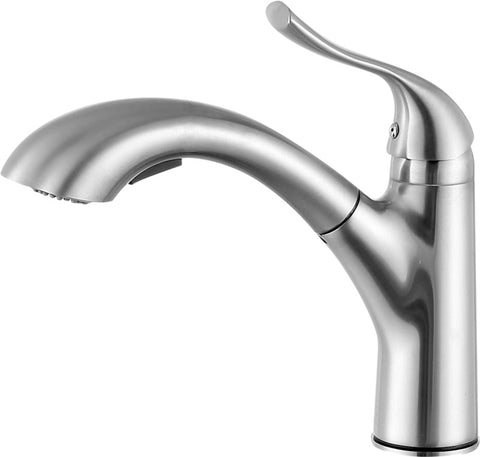 Di Piazza Single-Handle Pull-Out Sprayer Kitchen Faucet in Brushed Nickel