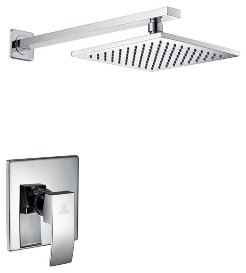 Viace Series 1-Spray 12.55 in. Fixed Showerhead in Polished Chrome