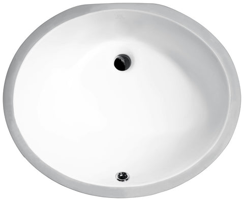 Pegasus Series 18.25 in. Ceramic Undermount Sink Basin in White