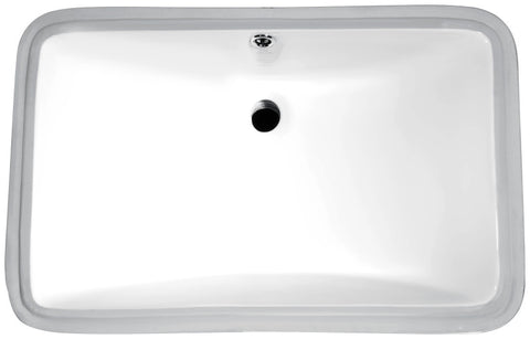 Dahlia Series 20.5 in. Ceramic Undermount Sink Basin in White
