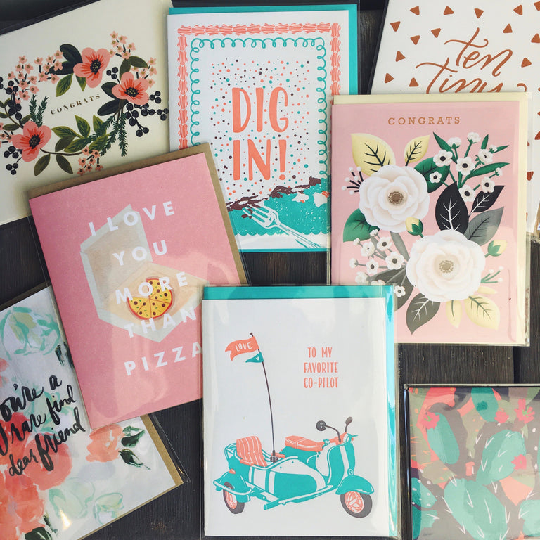 Greeting cards by independent designers.