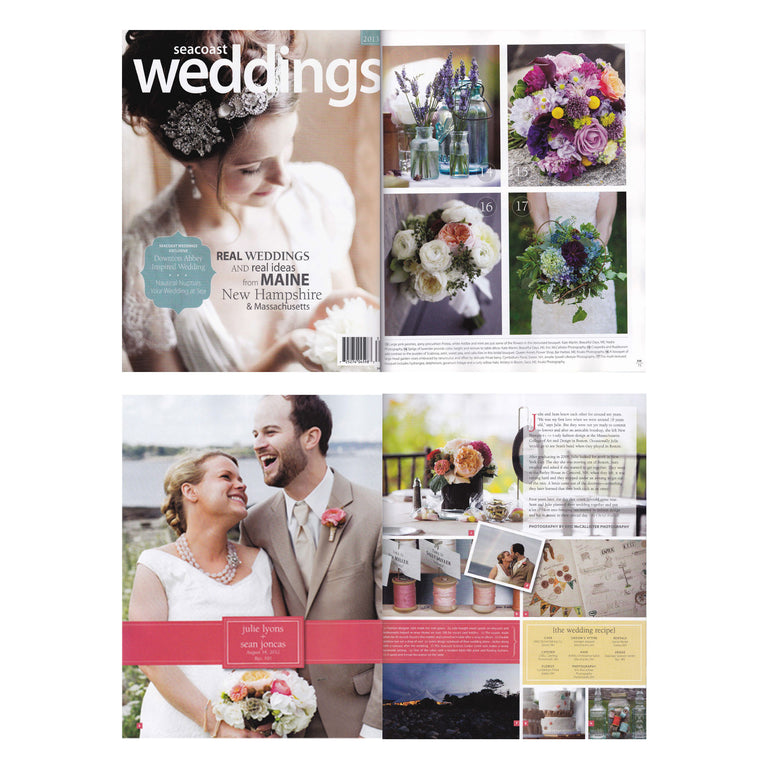 Wedding flowers featured in Seacoast Weddings Magazine.
