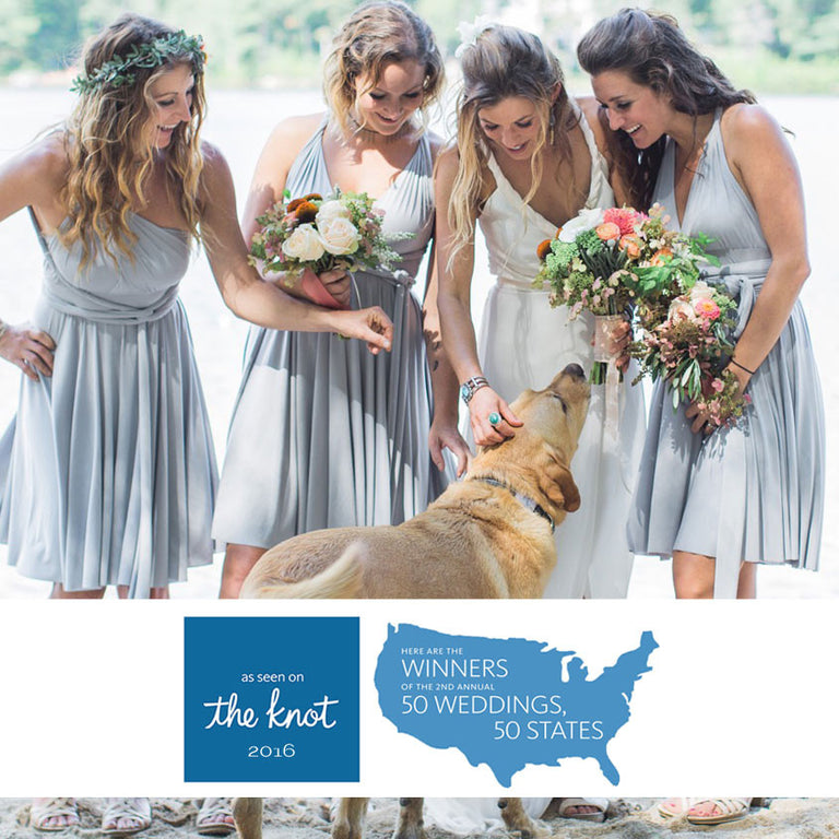 Featured wedding in the knot's 50 weddings 50 states magazine.