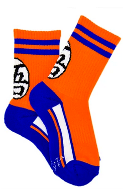 Dragon Ball Super Kids Goku Symbol Athletic Crew Sock