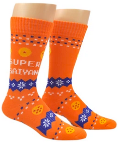 Dragon Ball Z Fair Isle Athletic Crew Sock