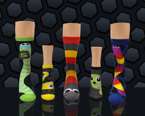 Fun and cool Slither.io socks for women against the classic Slither.io video game background